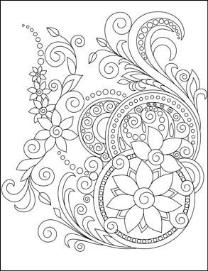 293x382 Swirls Coloring Page