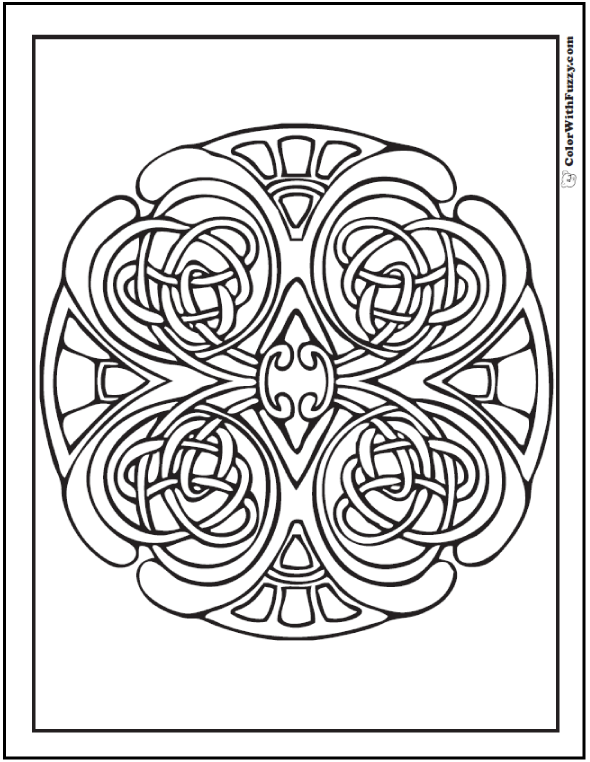 590x762 Swirls Coloring Page