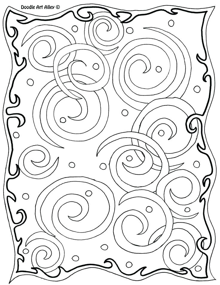736x951 Swirls Coloring Pages Joandco.co