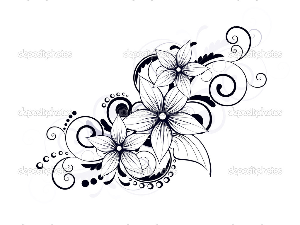 1024x768 17 Swirly Flower Designs Images