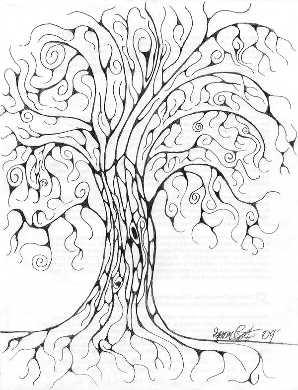600x785 Swirly Tree By Graphite Contrast