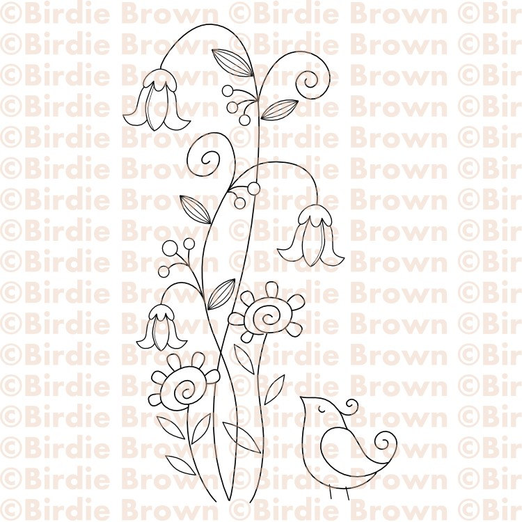 750x750 Swirly Flowers Amp Bird
