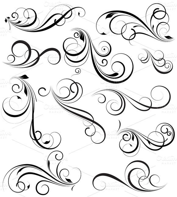 580x648 Swirly Vectors Design Elements Design Elements, Creative And Check