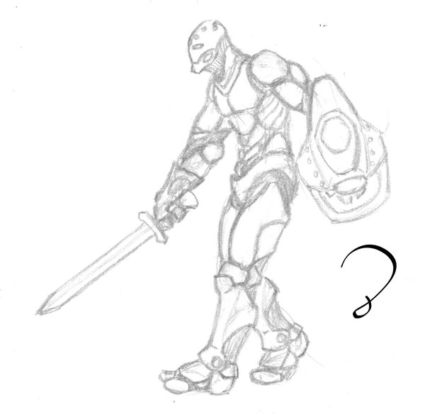 600x588 Warforged Shield And Sword By Radical D