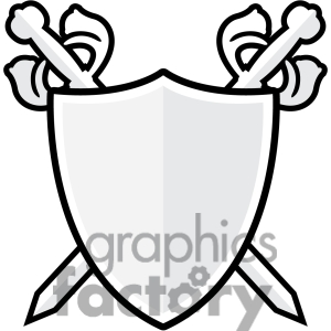 300x300 Clip Art Of Sword And Shield 002. 384824 By Graphics Factory