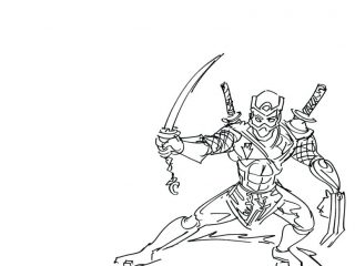 320x240 Ninja Colouring Pages To Print Coloring Of Ninjas Tree Sword