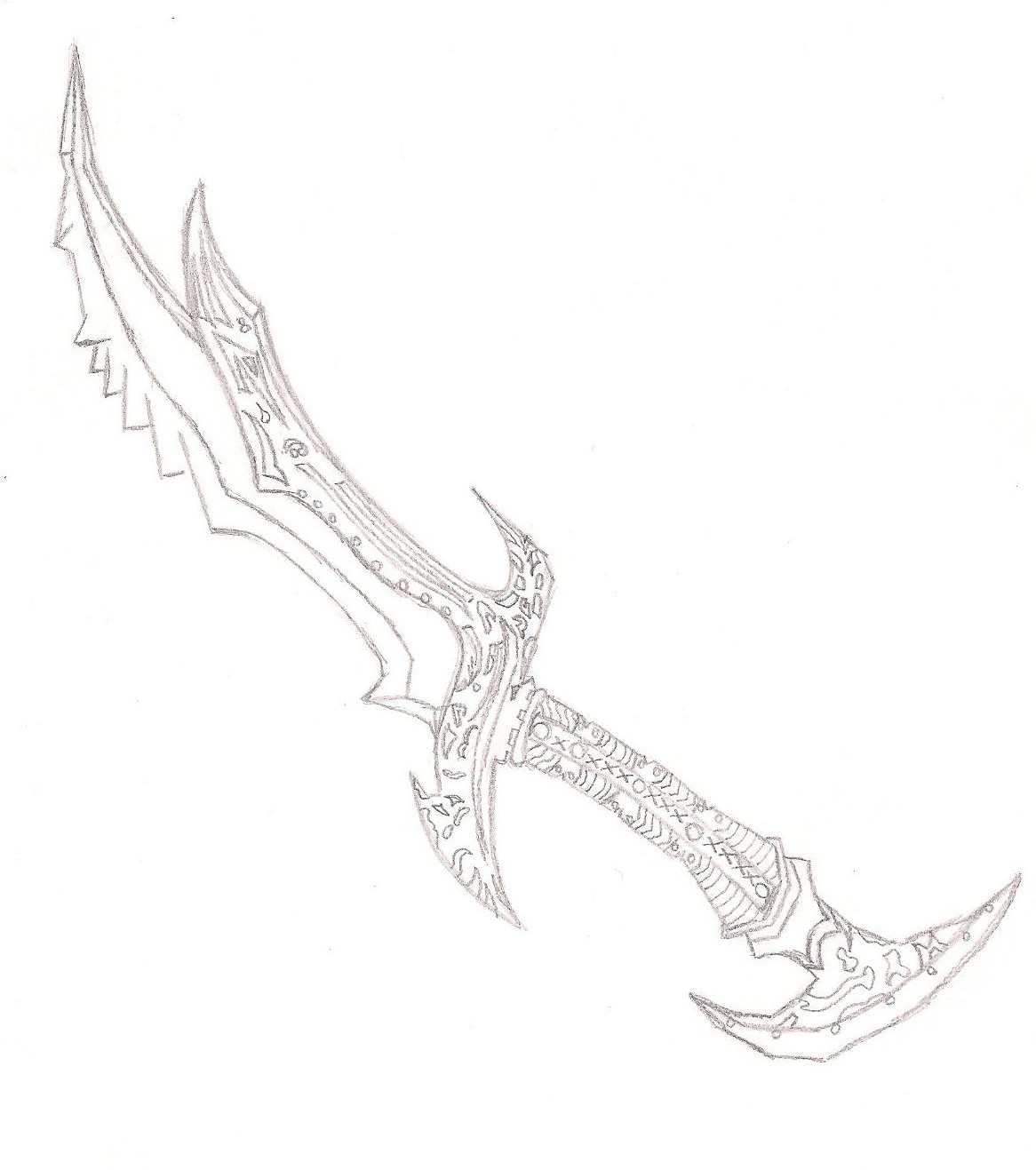 Sword Drawing Step By At Free For Personal Origami An Style 1166x1317 Daedric Skyrim Failedxexperimentx13