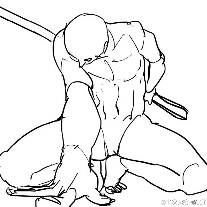 Sword Fighting Poses For Drawing