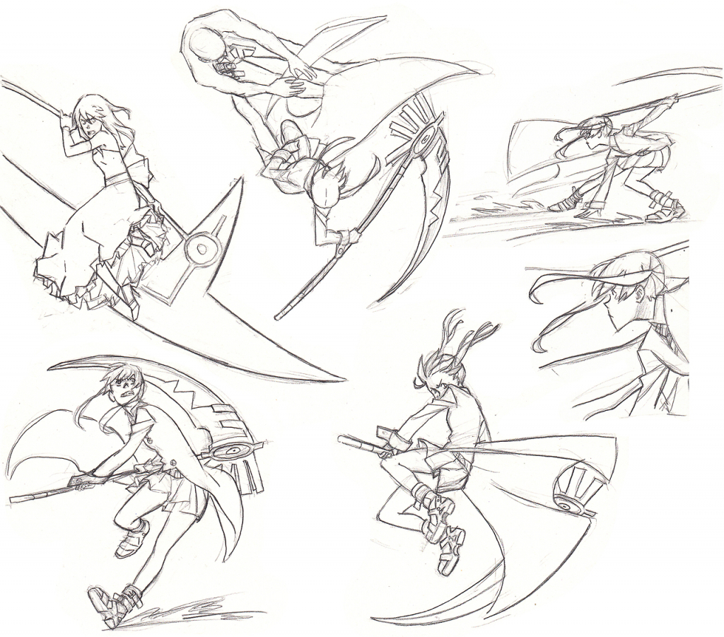 1024x901 Draw Anime Girl Fight Manga Girl With Sworddrawing Time Lapse