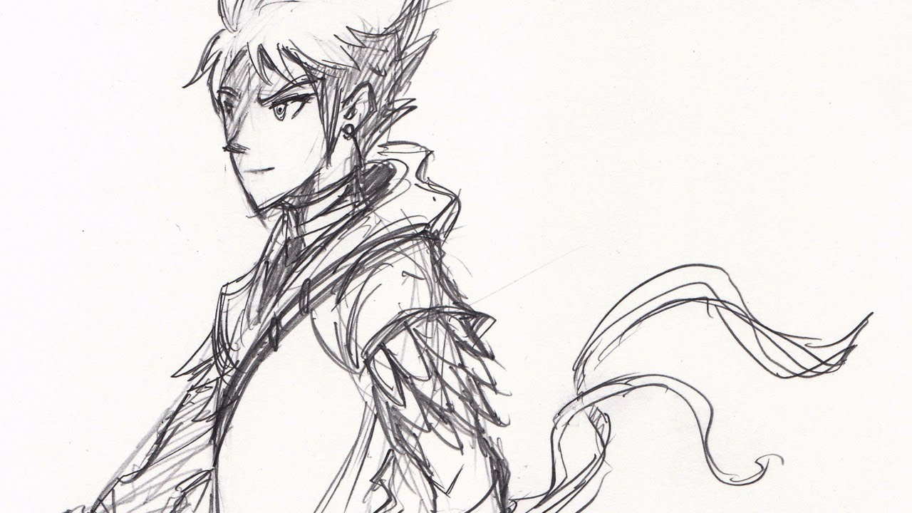 1280x720 Drawing Time Lapse Dragonscale Warrior