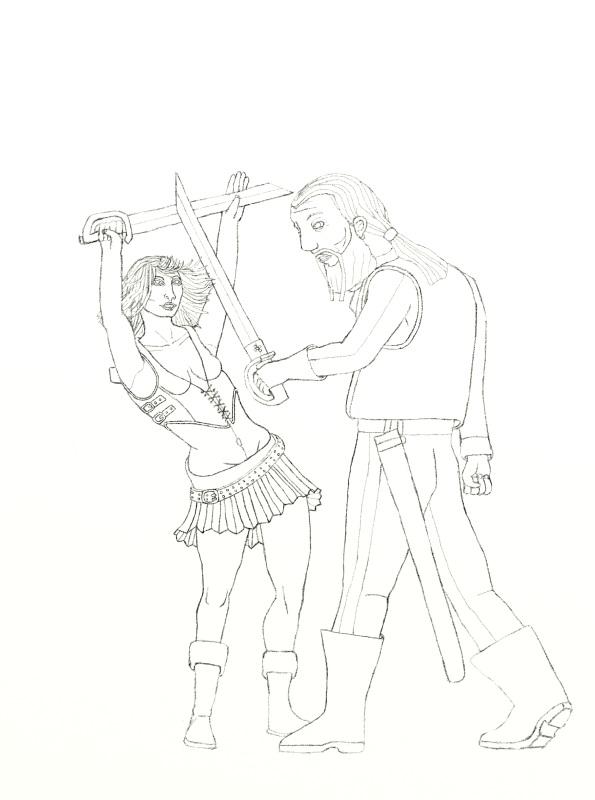 595x800 Drawn Sword Sword Fighting