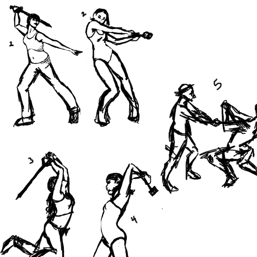 900x900 Fighting Poses By Soryko