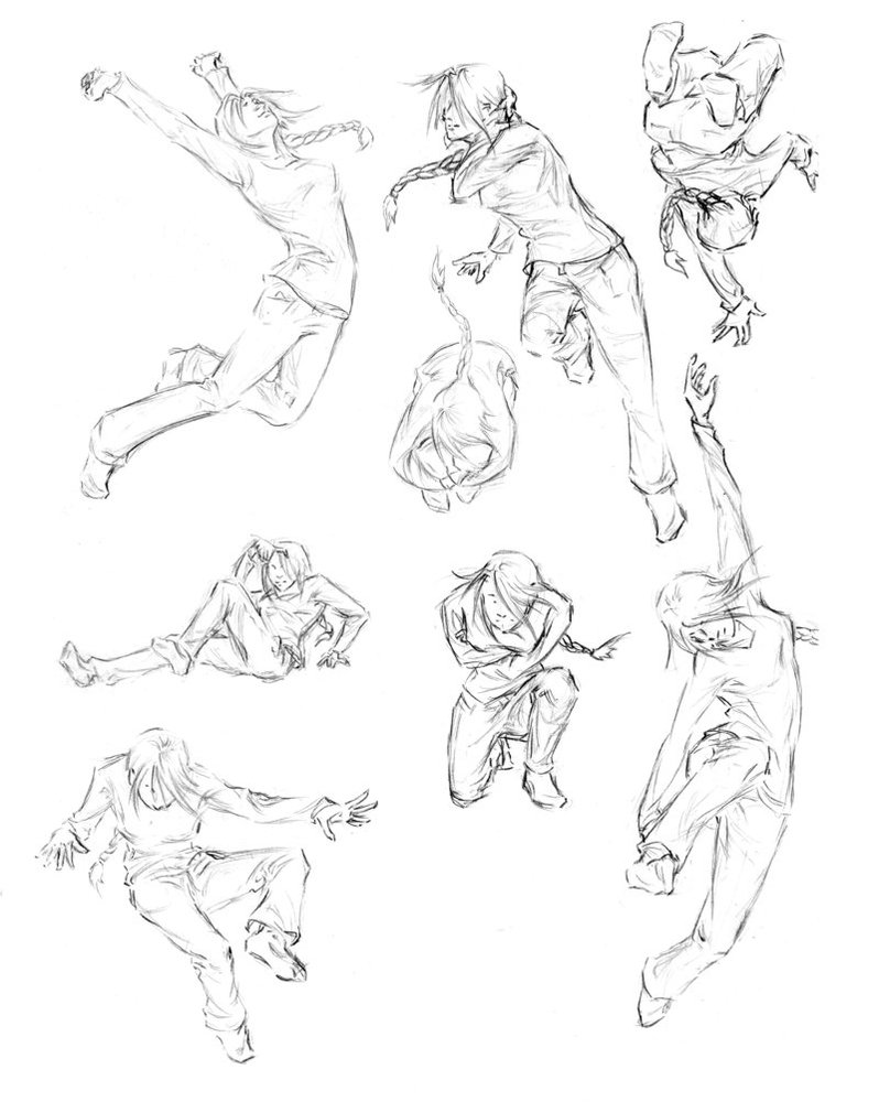 798x1000 Girl Action Poses By Whistlebird