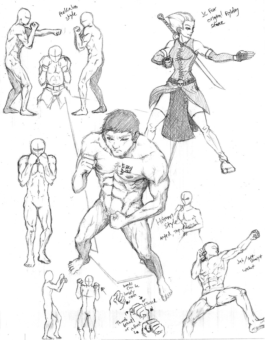 900x1151 Group Poses 1 Fighting Stance (Boxing) By Shinsengumi77