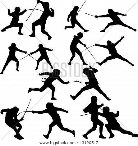 444x470 Sword Fighting Poses