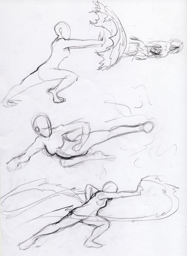 600x820 Tutorial Character Poses Fight On Drawing Tutorial