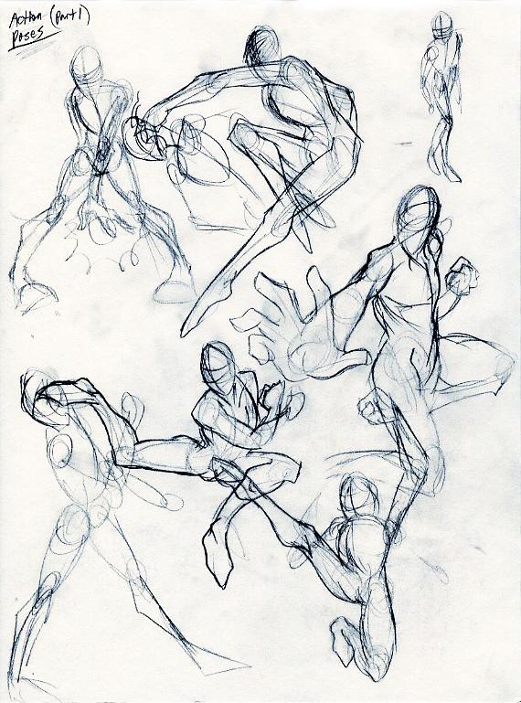 570x769 Action Poses Part 1 By Jinju101