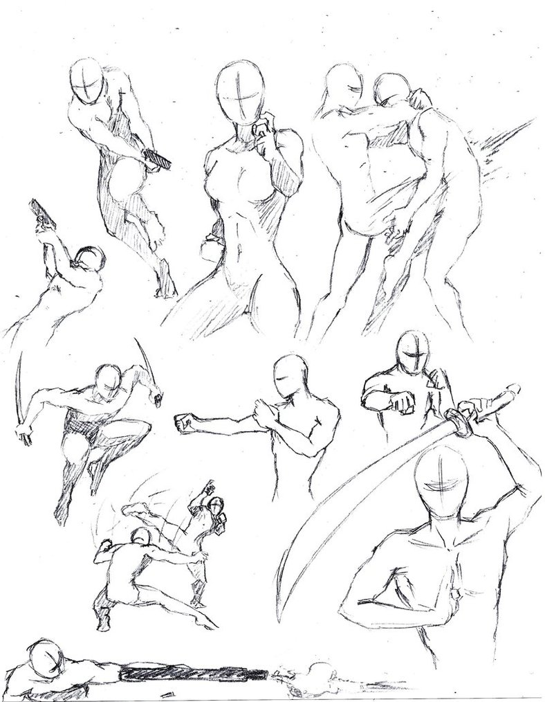 788x1014 Action Poses 1 By Shinsengumi77