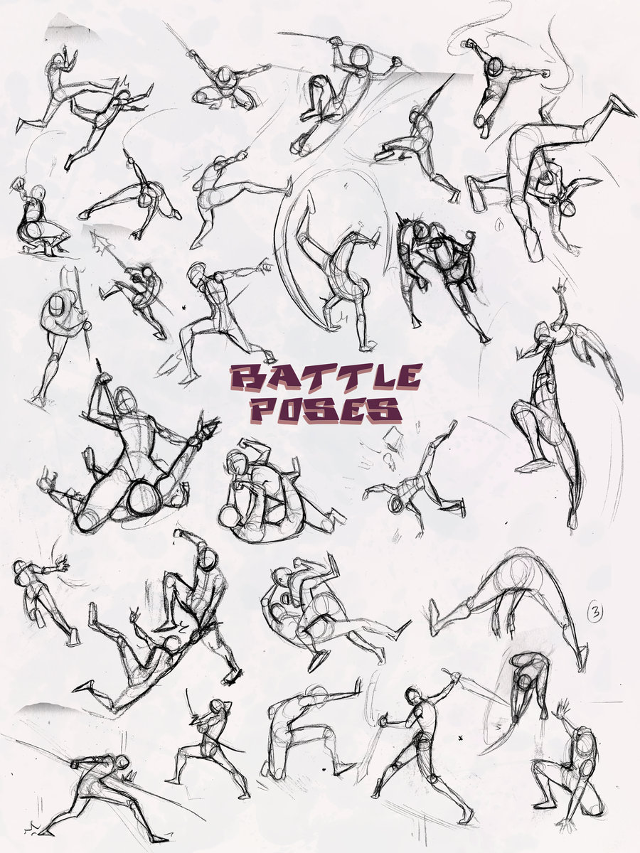 900x1200 Battle Poses Ass Kicking By Elementjax
