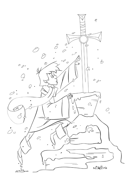 541x700 Sword In The Stone By Lightbombmike