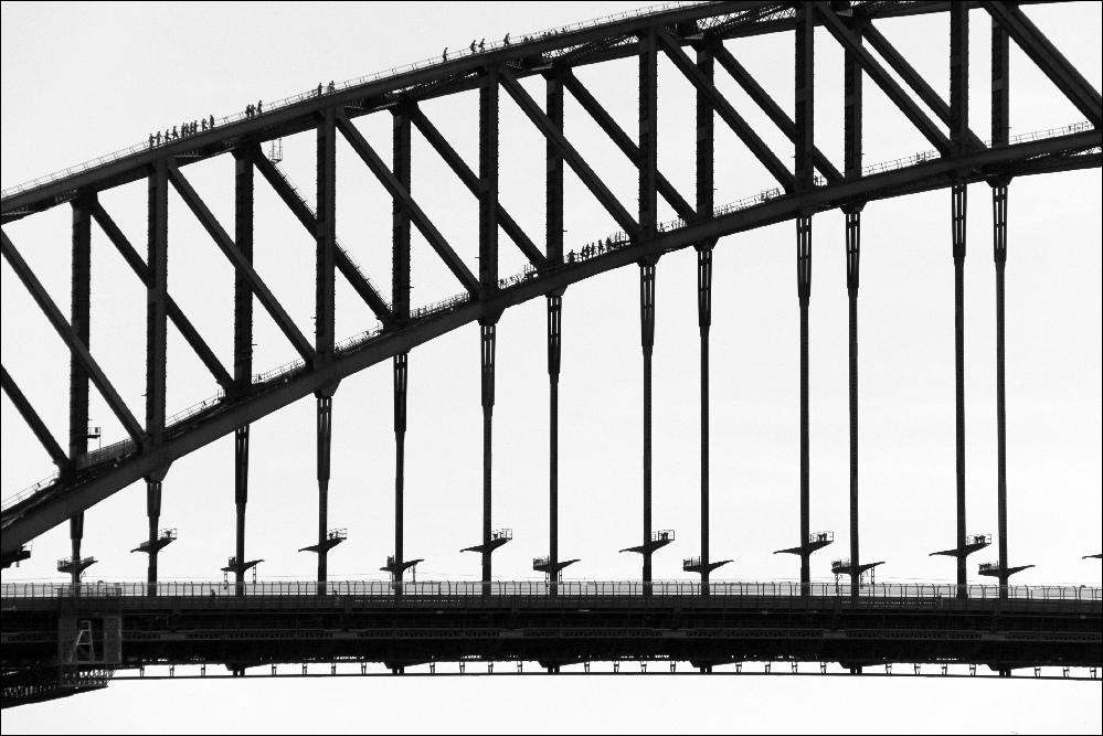 999x667 Walking On Harbour Bridge People Walking On Sydney