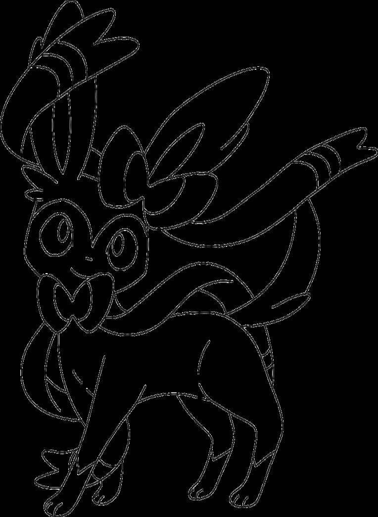 764x1045 lineart of sylveon by inukawaiilover on deviantart