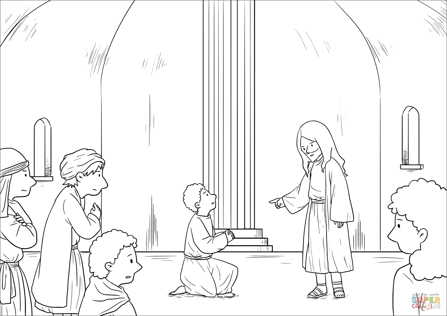 1500x1061 A Prophet Without Honor (Mark 61 6) Coloring Page Free