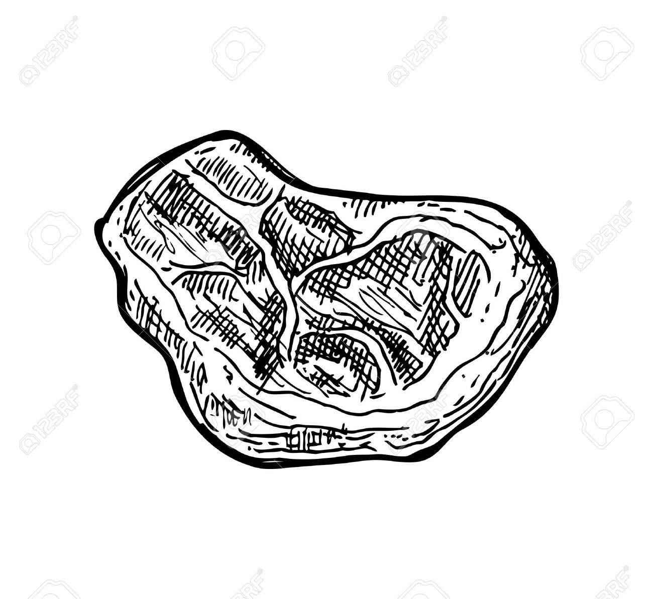 1300x1193 Hand Drawn Meat Royalty Free Cliparts, Vectors, And Stock
