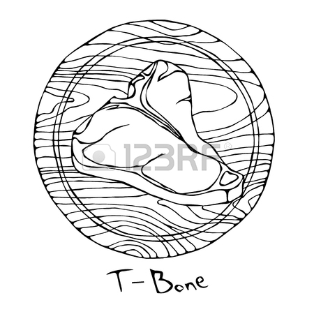 450x450 184 T Bone Steak Stock Illustrations, Cliparts And Royalty Free T
