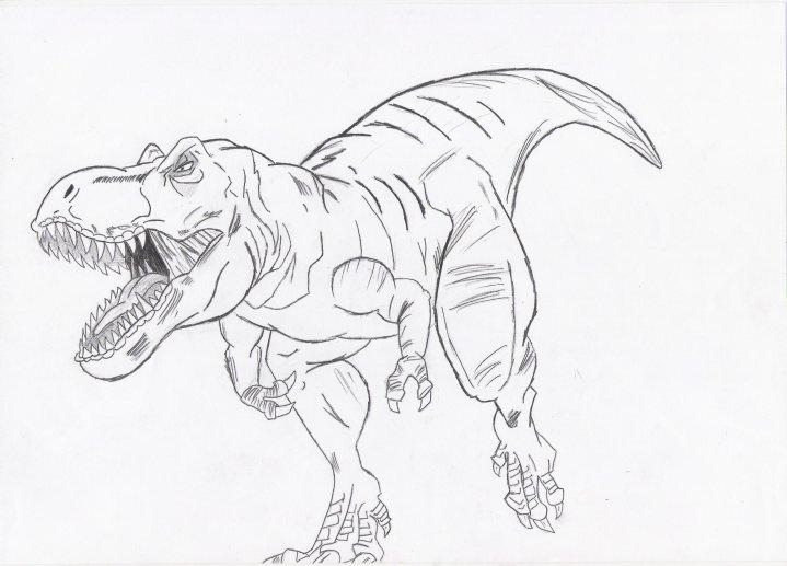 719x517 My T Rex Drawing By Jockiz