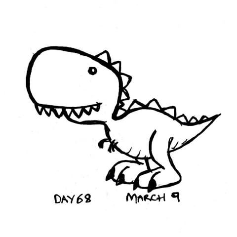 T Rex Cartoon Drawing