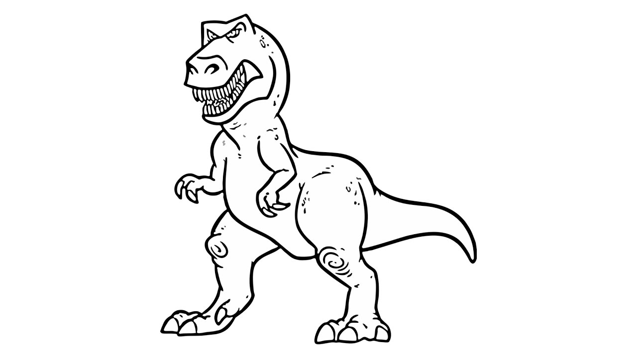 1280x720 How To Draw A Dinosaur (T Rex, Animals)