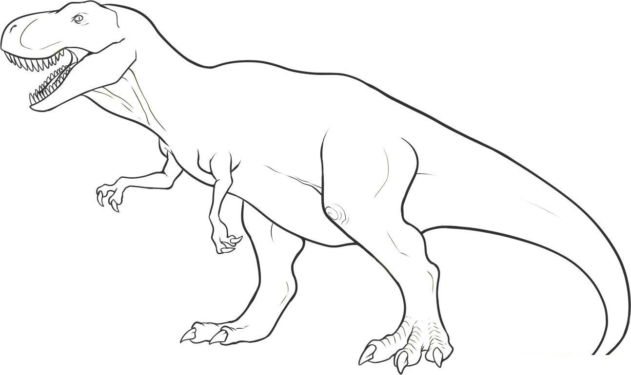1294x770 Pk How To Draw Dinosaur T Rex In Simple Lines