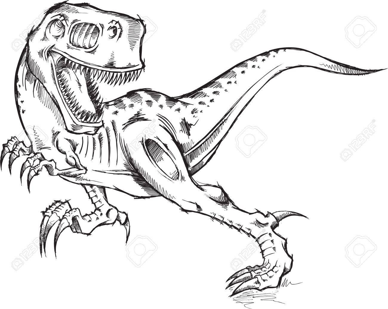 1300x1034 Sketch Doodle Tyrannosaurus Rex Dinosaur T Rex Illustration Art