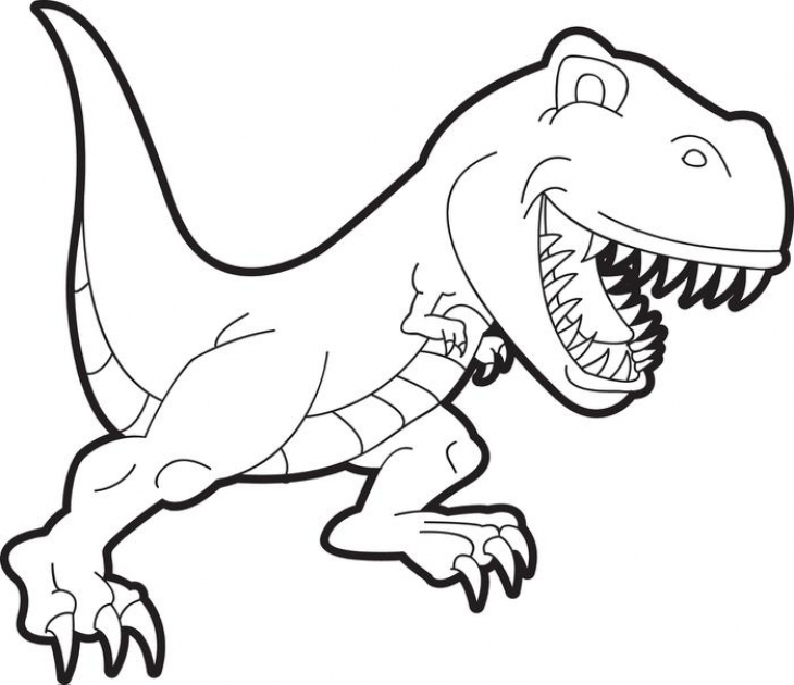 730x630 Cartoon T Rex Coloring Page For Preschoolers Animal