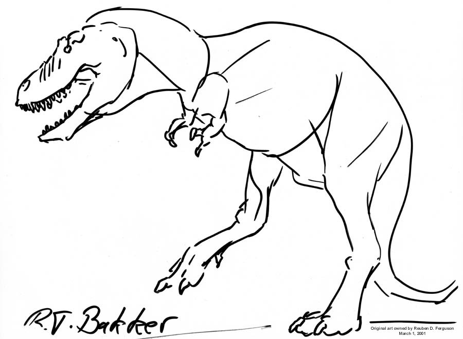900x660 T. Rex By Robert Bakker