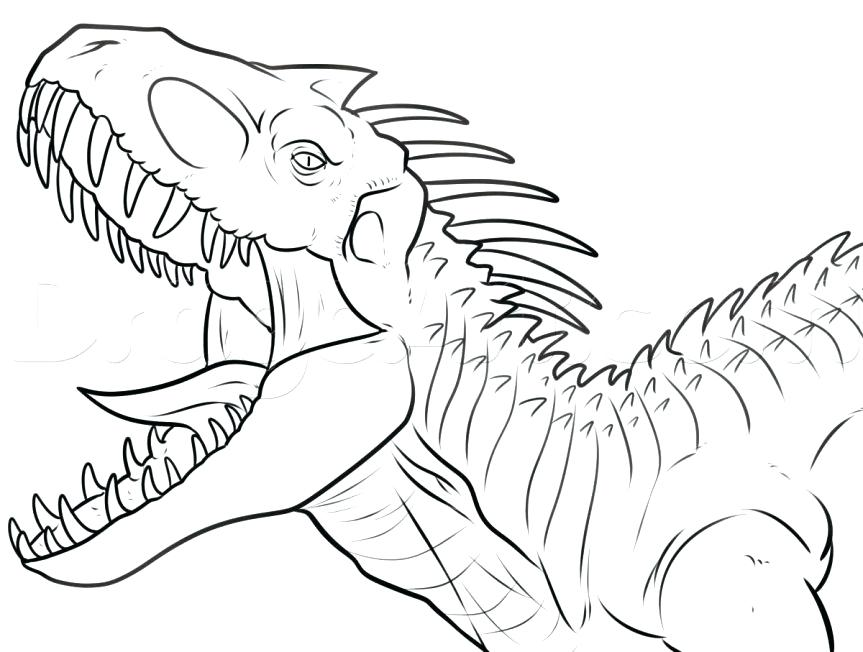 863x652 Trex Coloring Page Astounding Pages With Park T Dinosaur