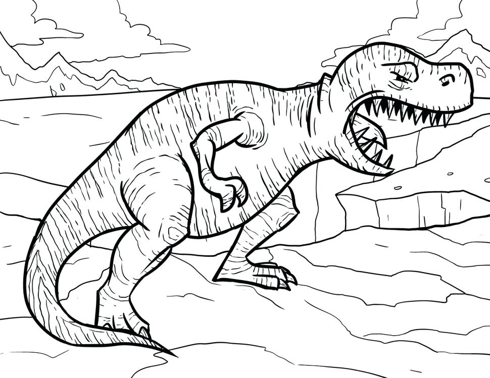 970x749 Trex Coloring Page Coloring T Coloring Sheet Tyrannosaurus Page
