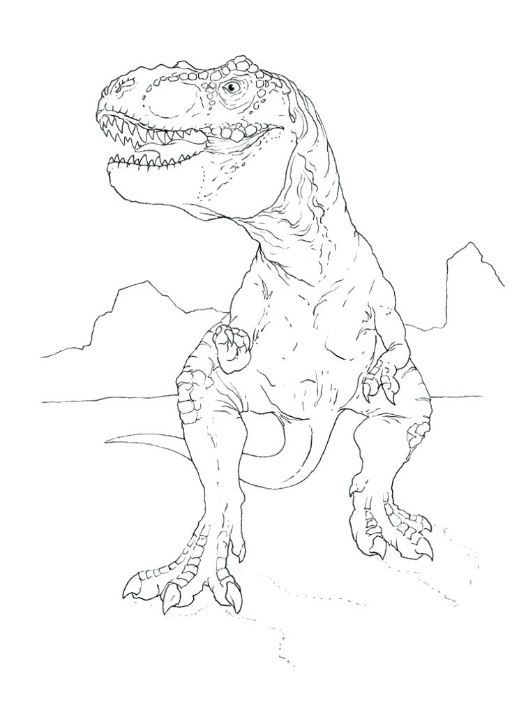 744x1024 Tyrannosaurus Coloring Page T Rex Printable Coloring Pages