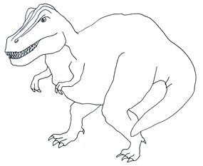 285x233 Tyrannosaurus Rex Clipart Black And White