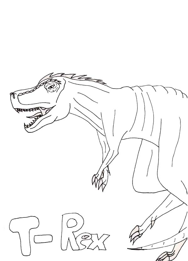 600x834 Kids Drawing Of T Rex Coloring Page Color Luna