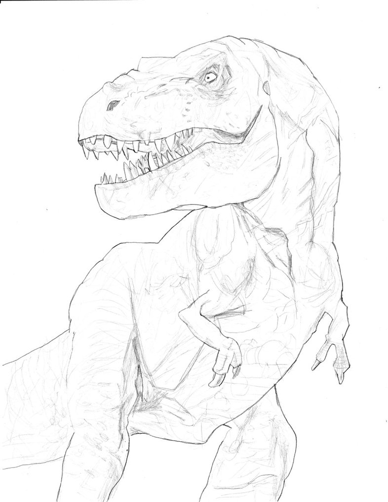 786x1017 T Rex (Jurassic Park) By Homer311