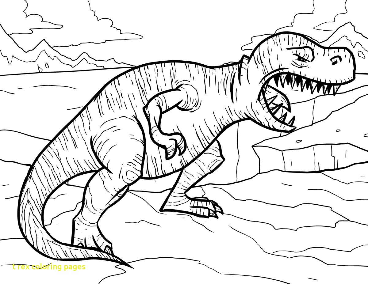1200x927 T Rex Coloring Pages Colouring For Funny Draw Trex Page 1