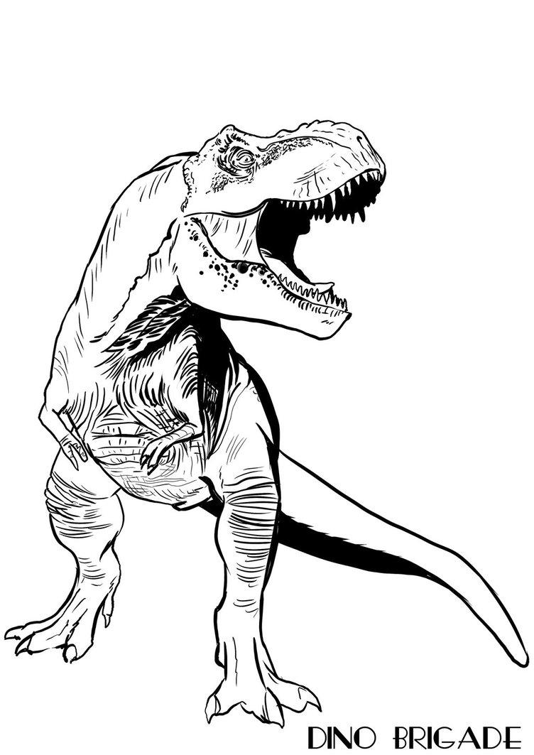 752x1063 T Rex Dino Brigade By Obalofserbia