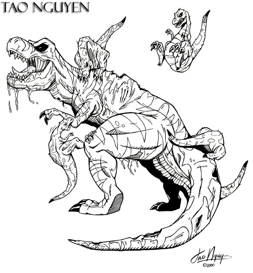 861x928 Tao Nguyen's Original T Rex Drawing By Taonguyenarts