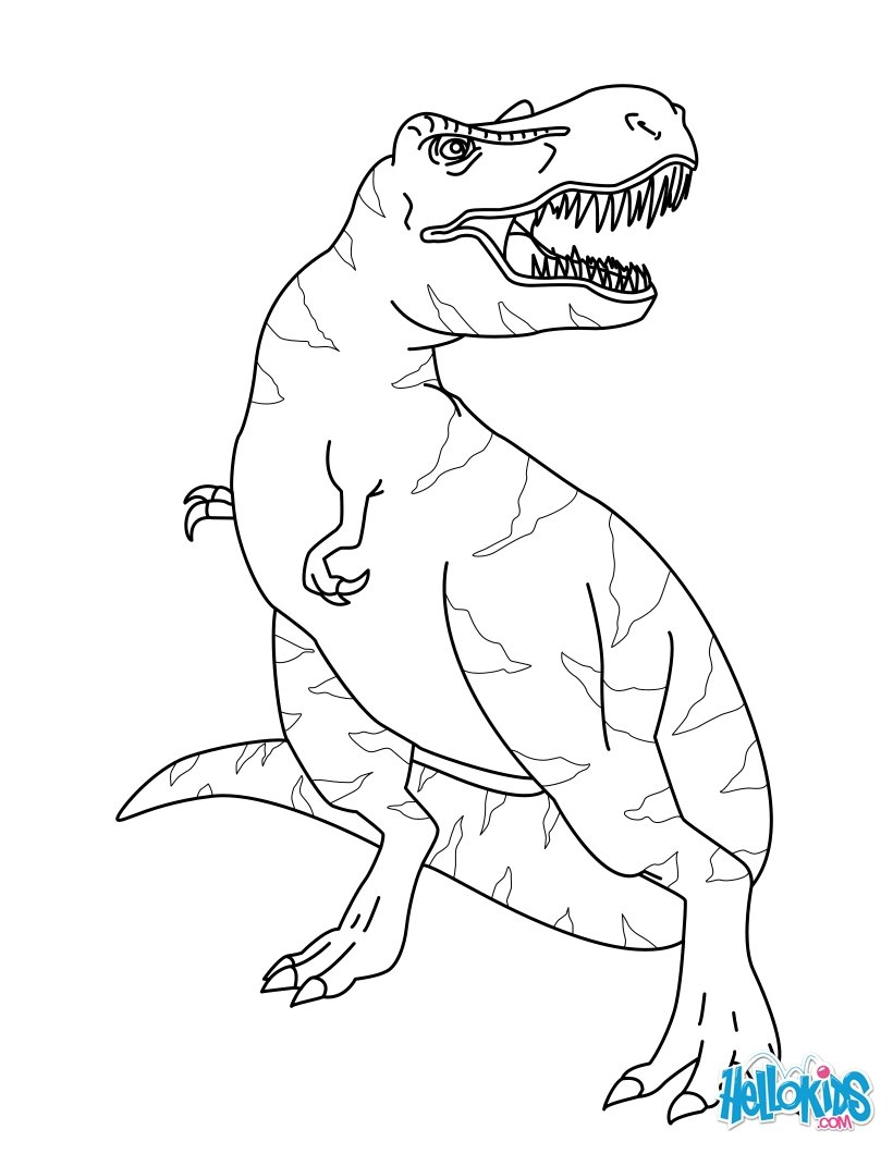 820x1060 Tyrannosaurus Rex Color Preschool For Funny Draw Coloring Jurassic