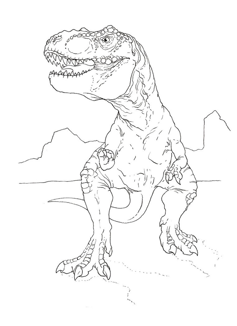 762x1048 T Rex Coloring Page By Stuntmanmike666