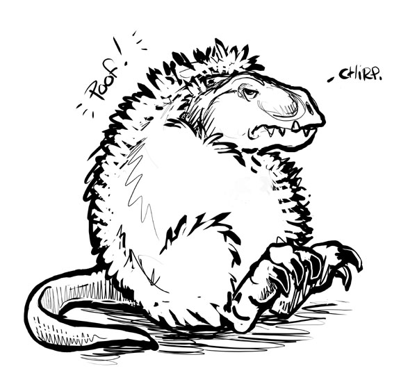 600x560 T Rex Goes Poof By Ursulav