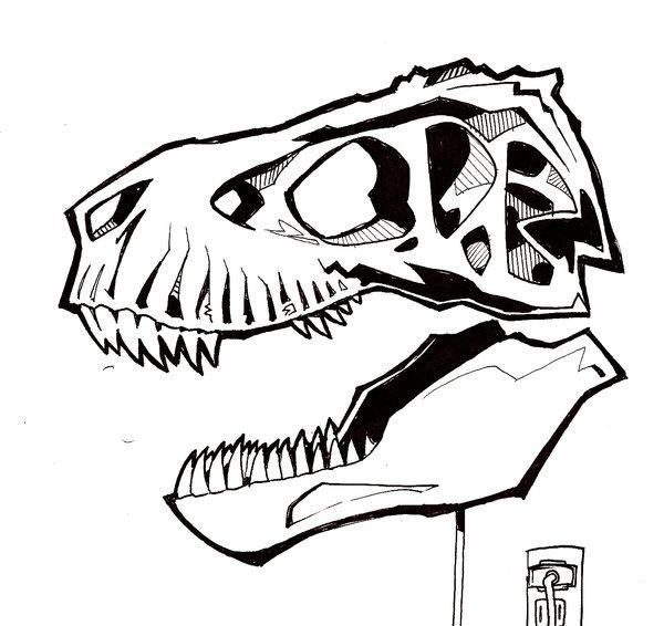 600x566 T Rex Skull By Mrorozco