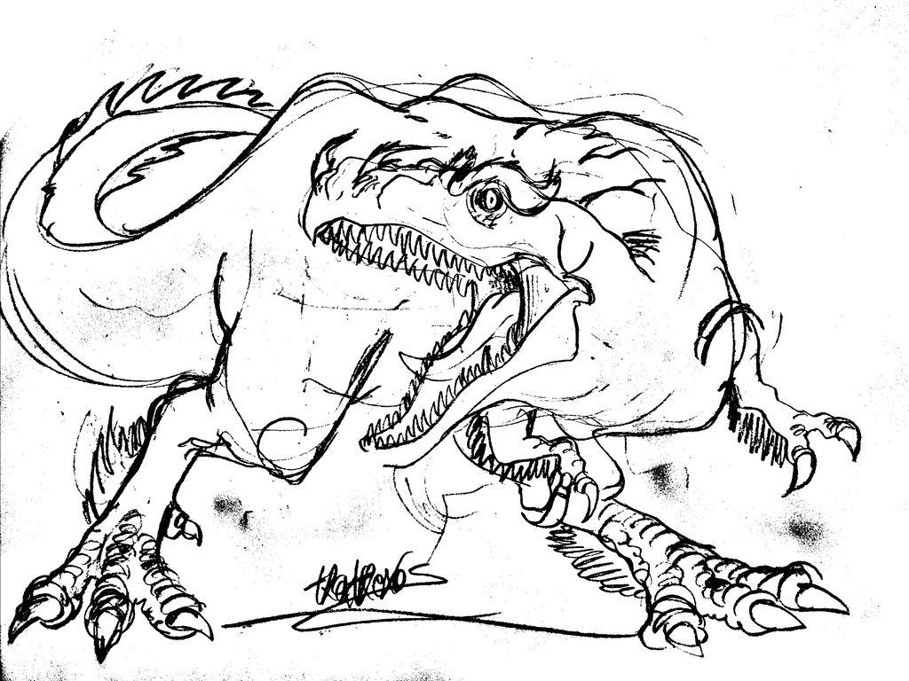 1024x768 T.rex Is A Real Dragon By Tpckrulez